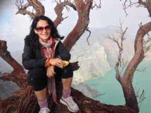Inside the Crater of an Active Volcano, Ijen Indonesia